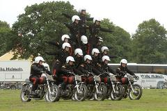 The White Helmets display team performing in Gadebridge Park