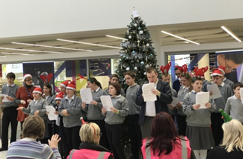 Collett School Choir performing at The Forum