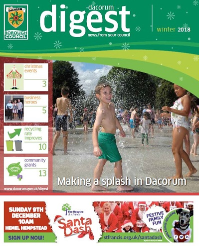 Dacorum Digest Winter 2018 front cover