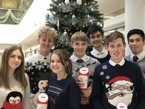 Cavendish school pupils in their festive jumpers