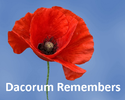 Poppy Dacorum remembers the fallen