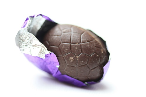 Image of an unwrapped Easter egg