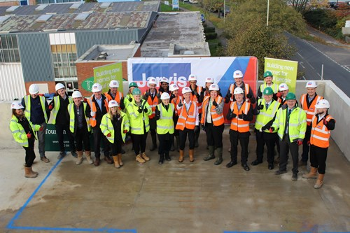 Topping out ceremony for Dacorum Borough Council's Kylna Court development