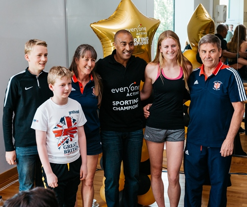 Colin Jackson CBE and Everyone Active Sporting Champions