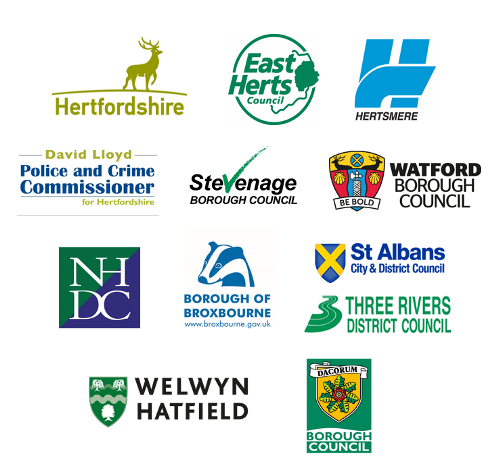 Councils and police and crime commissioner logos