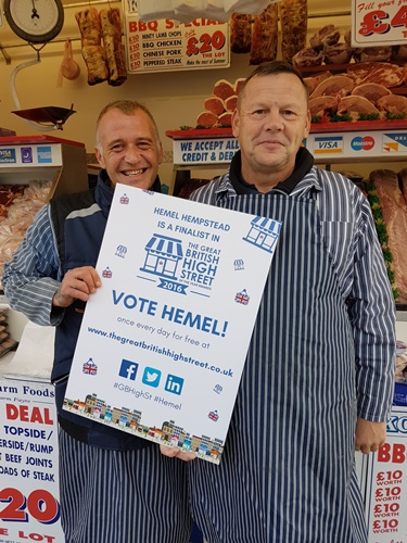 KCD Butchers are backing Hemel in the Great British High Street awards
