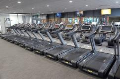 Running machines in the refurbished gym