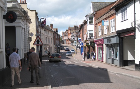 Tring High Street during the day